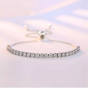 NEW 925 Sterling Silver ZIrcon Crystal Bracelet